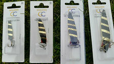 4 Different Sizes Zebra TOBY TOBIX Type Salmon Pike Lure Spinner TOP QUALITY!