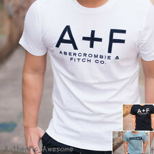 NWT Abercrombie & Fitch Mens Embossed Logo Graphic Tee T-Shirt XS S M L XL XXL