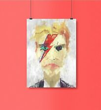 David Bowie Poster. David Bowie Abstract Painting Print. David Bowie Gift