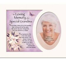 Memorial Special GRANDMA Personalised photo mount with photo frame 8'10