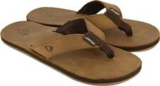 Reef Leather Smoothy Bronze Brown Flip Flops Sandals Mens
