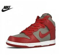 New Womens Girls Nike Dunk Retro Hi Top Trainers Shoes Red Grey UK Size 2.5 6