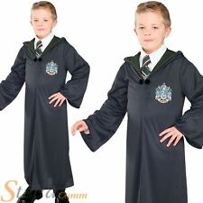 Boys Slytherin Robe Harry Potter Costume Book Day Wizard Fancy Dress Outfit