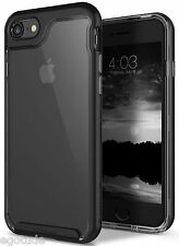 Dual Layer Bumper Transparent Back Case Cover For Apple iPhone 7 & 7 Plus BLACK