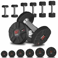 IronFlex Rubber Encased Ergo Dumbbell Weights Gym Weight Lifting Fitness Workout