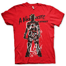 Officially Licensed Nightmare On Elm Street - Come Out And Play T-Shirt (S-XXL)