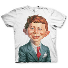 Officially Licensed Mad Magazine - Alfred E. Neuman T-Shirt S-XXL Sizes