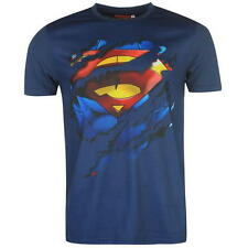 MENS CHARACTER DC COMICS SUPERMAN SHORT SLEEVE WHITE T SHIRT TOP SIZE S-2XL