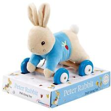 BEATRIX POTTER  -  Peter Rabbit or Flopsy Bunny Plush Pull Along Toy - Baby Gift