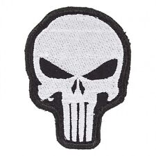 Army Tactical Morale Patch Punisher Skull Silver-Black Color Biker Motorcycle