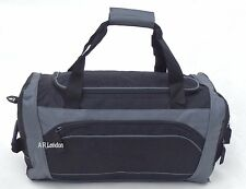 Mens Large Black Sports & Gym Duffle Holdall Bag SPORTS TRAVEL WORK Ladies New