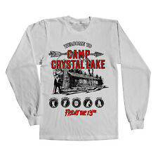 Officially Licensed Friday The 13th - Camp Crystal Lake LS T-Shirt  S-XXL Sizes