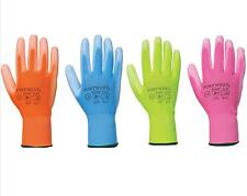 Portwest A120 Colourful Nylon PU Palm Coated Breathable Gardening Gloves