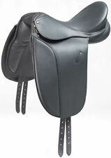 "New Beautiful black Dressage leather Saddle sizes 16"", 17"" lowest price UK"