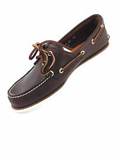Timberland Classic 2 Eye Dark Brown Mens Boat Shoes - 74035