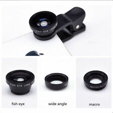 3 in 1 Clip on Cell Phone Camera Lens Fisheye Lens Wide Angle Lens Macro Lens