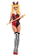 Ladie's Medieval Harlequin Jester Fancy Dress Costume, Harlequin Outfit