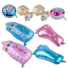 4x Cute Birthday Party Shower Christening Boy Girl Baby Foot Bottle Foil Balloon