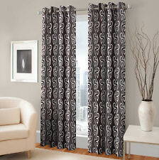 Warmland 2 PC Printed Polyester Eyelet  Window Curtain-Door Curtains- WDC02