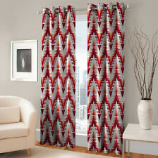 Warmland 2 PC Printed Polyester Eyelet  Window Curtain-Door Curtains-WDC23