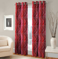 Warmland 2 PC Printed Polyester Eyelet  Window Curtain-Door Curtains-WDC43