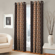 Warmland 2 PC Printed Polyester Eyelet  Window Curtain-Door Curtains-WDC48