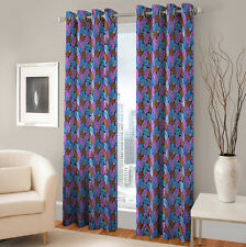 Warmland 2 PC Printed Polyester Eyelet  Window Curtain-Door Curtains-WDC14