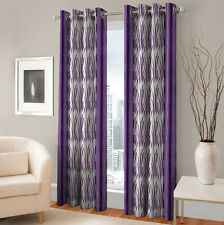 Warmland 2 PC Printed Polyester Eyelet  Window Curtain-Door Curtains-WDC44