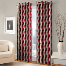 Warmland 2 PC Printed Polyester Eyelet  Window Curtain-Door Curtains-WDC49