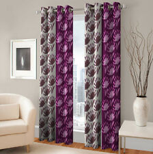 Warmland 2 PC Printed Polyester Eyelet  Window Curtain-Door Curtains-WDC24