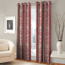 Warmland 2 PC Printed Polyester Eyelet  Window Curtain-Door Curtains-WDC34