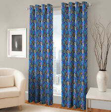 Warmland 2 PC Printed Polyester Eyelet  Window Curtain-Door Curtains-WDC15