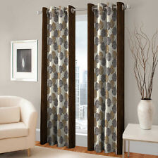 Warmland 2 PC Printed Polyester Eyelet  Window Curtain-Door Curtains-WDC45
