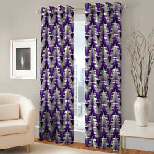 Warmland 2 PC Printed Polyester Eyelet  Window Curtain-Door Curtains-WDC05