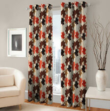 Warmland 2 PC Printed Polyester Eyelet  Window Curtain-Door Curtains-WDC46