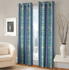 Warmland 2 PC Printed Polyester Eyelet  Window Curtain-Door Curtains-WDC36