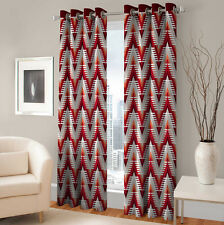 Warmland 2 PC Printed Polyester Eyelet  Window Curtain-Door Curtains-WDC07