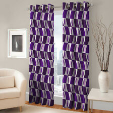 Warmland 2 PC Printed Polyester Eyelet  Window Curtain-Door Curtains-WDC27