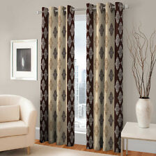 Warmland 2 PC Printed Polyester Eyelet  Window Curtain-Door Curtains-WDC37