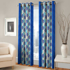 Warmland 2 PC Printed Polyester Eyelet  Window Curtain-Door Curtains-WDC18