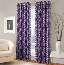 Warmland 2 PC Printed Polyester Eyelet  Window Curtain-Door Curtains-WDC38