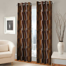 Warmland 2 PC Printed Polyester Eyelet  Window Curtain-Door Curtains-WDC20