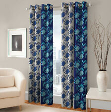 Warmland 2 PC Printed Polyester Eyelet  Window Curtain-Door Curtains-WDC31