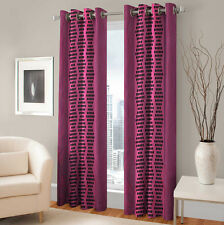 Warmland 2 PC Printed Polyester Eyelet  Window Curtain-Door Curtains-WDC21