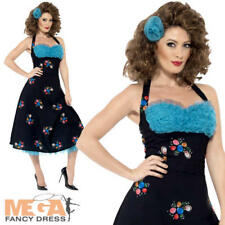 Grease Cha Cha DiGregorio Ladies Fancy Dress 50s Movie Character Womens Costume