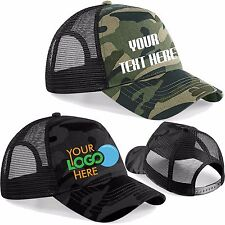 Personalised Custom Printed Camouflage Cap Military Army Camo Trucker Hat