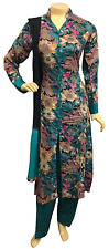 Indian Pakistani Printed Rayon Suit, Casual Stitched Salwar Kameez Shalwar