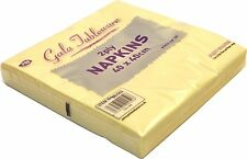 NAPKINS 2PLY 40CM CHAMPAGNE SQUARE SERVIETTES TABLEWARE PARTY SUPPLIES CATERING