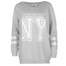 Only Rather Crew Femme Sweat Pull Top Haut Casual Sport Manche Longue Col Rond