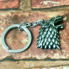 Game Of Thrones Stark Wolf Keyring keychain Jon Snow Direwolf Winter Is Coming